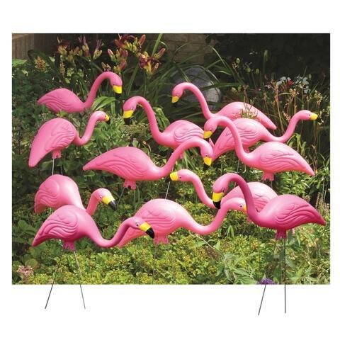 """Bloem Pink Flamingo 25"""" Yard Statue Stake (12-Pack) - 12 Pack"""