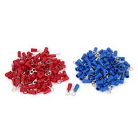 200 Pcs PVC Insulated Ring Crimp Electric Cable Terminals Connector AWG 14-12