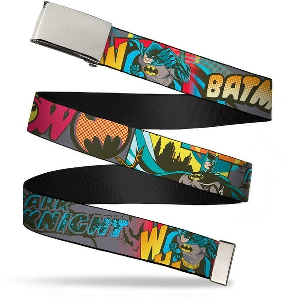 Blank Chrome Buckle Batman Dark Knight Webbing Web Belt