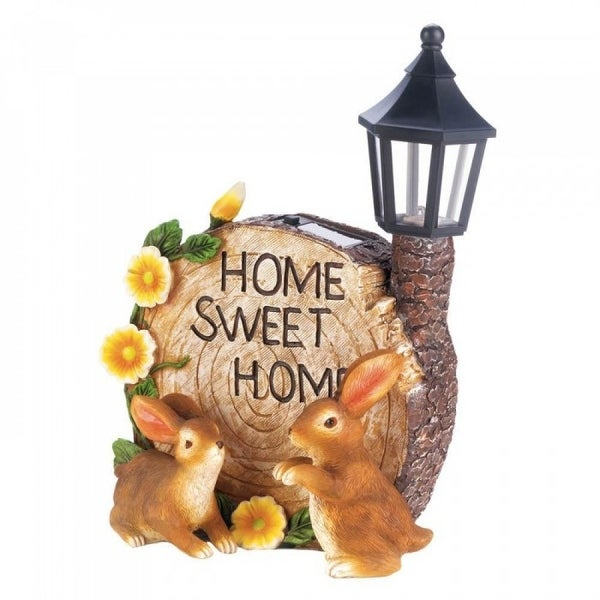 Shop Solar Powered Bunny Garden Decorations Overstock 27415362
