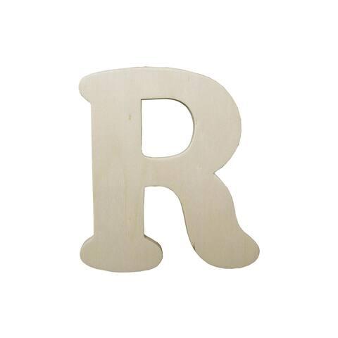 9181-r darice wood shape unfin letter 4 25 r