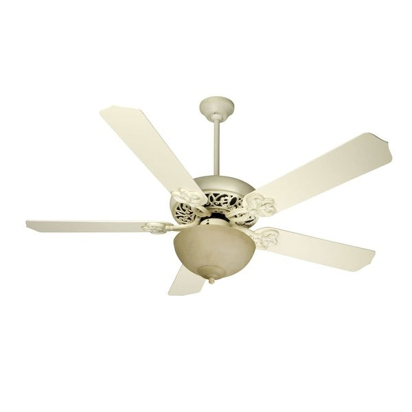 """Craftmade K10618 Cecilia Unipack 52"""" 5 Blade Indoor Ceiling Fan - Blades and Light Kit Included - antique white distressed"""