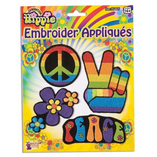 Hippie Embroider Applique Costume Set 4 Per Pack - Blue