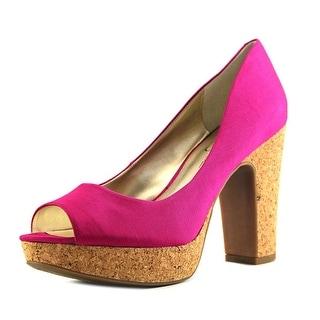 Jessica Simpson Candi  Women  Open Toe Canvas  Platform Heel