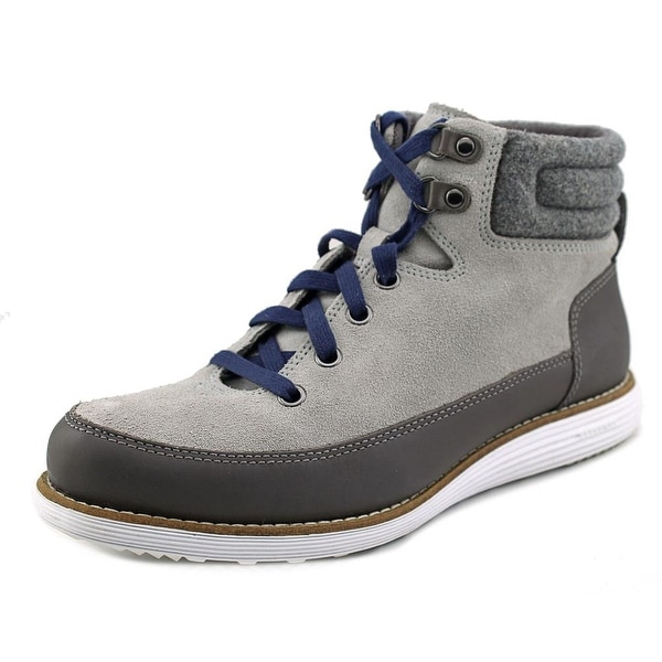 Cole Haan Hiker Grand Boot II Women Round Toe Leather Gray Boot