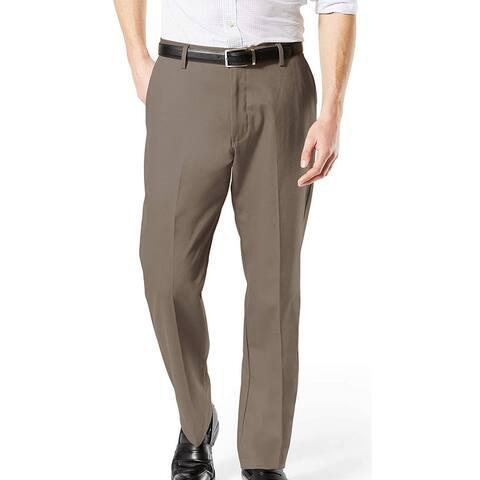 Dockers Mens Signature Khaki Pant Brown 44x30 Big & Tall Classic Stretch