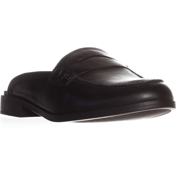 naturalizer Villa Backless Penny Loafers, Black Leather