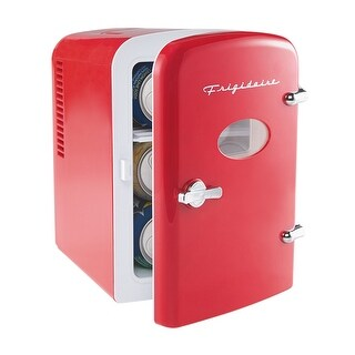 Frigidaire Portable Retro 6-can Mini Fridge EFMIS129, Red Refurbished