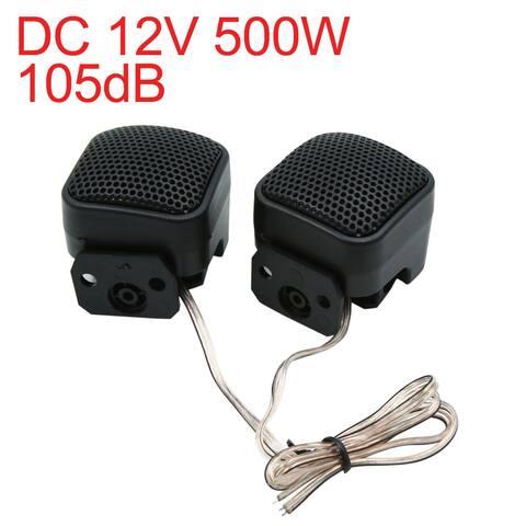 DC 12V 500W 105dB Super Power Universal Car Audio Tweeter Loud Speaker Pair