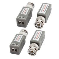 4pcs BNC Male Passive CVI TVI AHD Video Balun Transceiver Gray for CCTV System