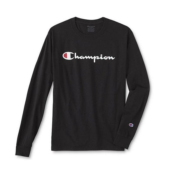 Champion Mens Classic Jersey Ls Crewneck