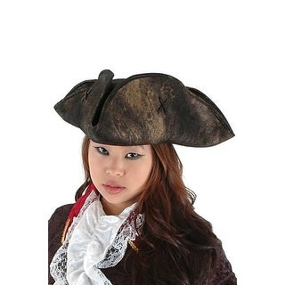 Elope Scallywag Pirate Hat (Black) - Solid