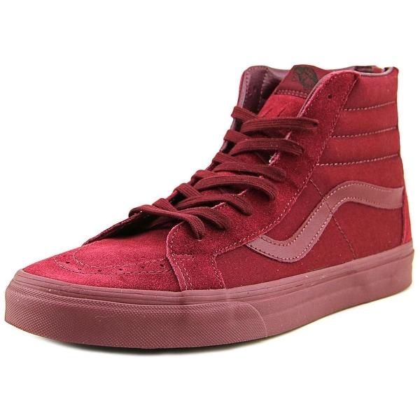 d20bb761748f52 Shop Vans Sk8-Hi Reissue Zip Men Round Toe Suede Burgundy Skate Shoe ...