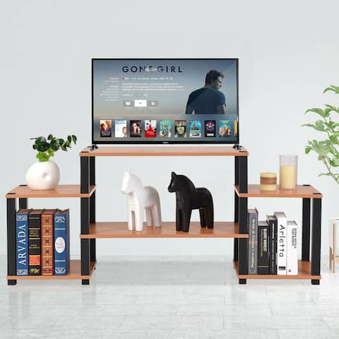 Costway TV Stand Entertainment Center Media Console Furniture Storage Cabinet - as pic