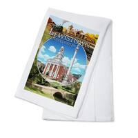 Lewistown, PA - Montage Scenes - LP Artwork (100% Cotton Towel Absorbent)