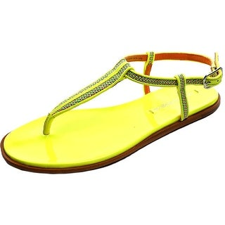 Via Spiga Cynna Women Open Toe Synthetic Yellow Thong Sandal