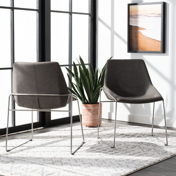 """Safavieh Alexis Mid Century Dining Chair (Set of 2) - 25"""" x 24"""" x 33.3"""" - 25"""" x 24"""" x 33.3"""". Opens flyout."""