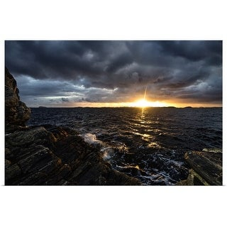 """Sunset on coastal island"" Poster Print"