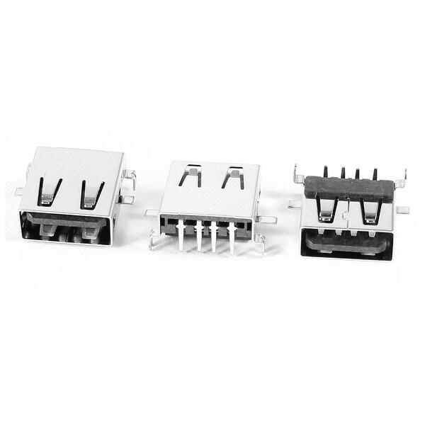 Unique Bargains 3 x USB Jack Female Surface Mount PCB SMT Replacement Connector Port Type A