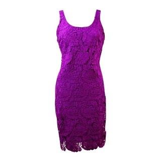 Lauren Ralph Lauren Women's Rose Lace Sheath Dress