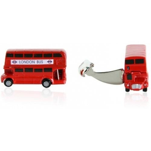 Two Level British Bus Double Decker Bus England Travel Cufflinks