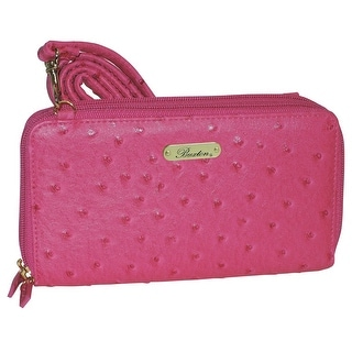 Buxton Womens Ostrich Brights Ultimate Clutch Handbag Faux Leather - Small