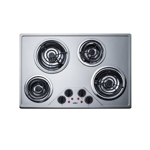 "Summit CR430SS 30"" Wide ADA Compliant Built-In Electric Cooktop - Stainless Steel"
