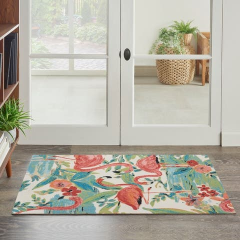 Wanderly Flamingo Indoor/Outdoor Area Rug by Havenside Home