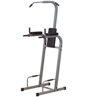 Body-Solid Vertical Knee Raise Chin Dip Machine - metal