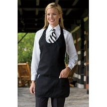 V-Neck Formal Apron Pinstripe