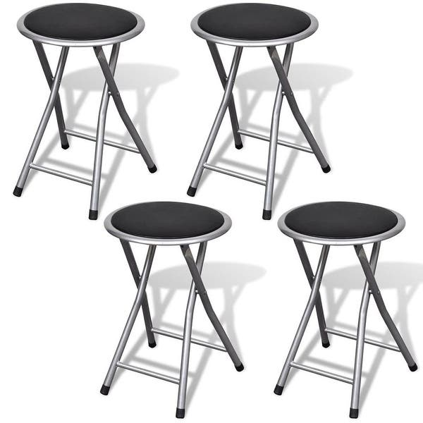 Incredible Shop Vidaxl Set Of 4 Round Folding Kitchen Breakfast Bar Pabps2019 Chair Design Images Pabps2019Com