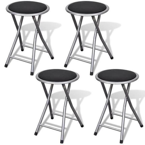 Cool Shop Vidaxl Set Of 4 Round Folding Kitchen Breakfast Bar Unemploymentrelief Wooden Chair Designs For Living Room Unemploymentrelieforg