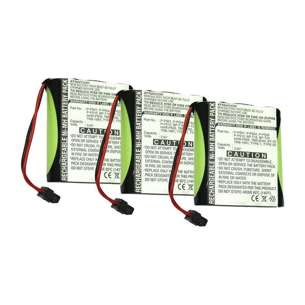 Replacement Battery For Panasonic KX-TC1484B Cordless Phones - P504 (700mAh, 3.6v, NiMH) - 3 Pack