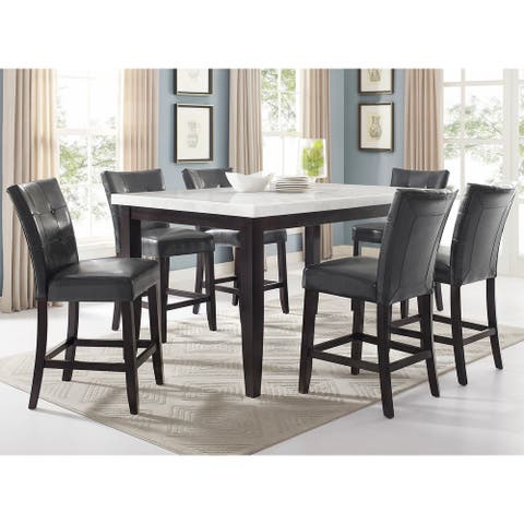 Fairfax White Marble 7PC Counter Height Dining Set by Greyson Living