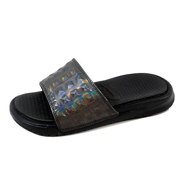 Nike Women's Benassi JDI Ultra Premium Black/Black-Silver 818737-003