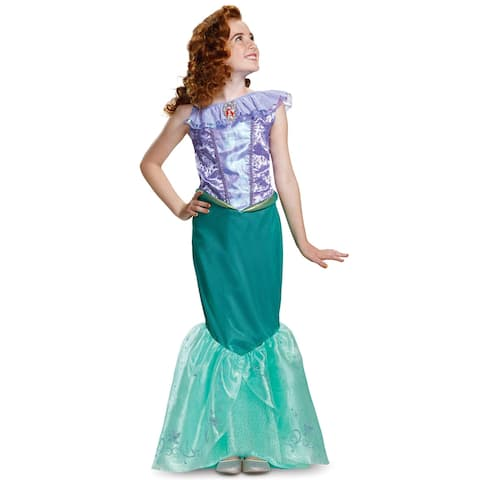Disguise 2018 Ariel Deluxe Child Costume - Purple/Green