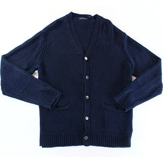 Polo Ralph Lauren NEW Blue Mens Size 2XL Solid Knit Cardigan Sweater