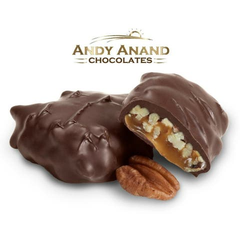 Andy Anand Dark Chocolate Caramel Pecan Gift Box 1 lbs