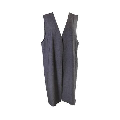 Alfani Prima Grey Collarless Long Vest XL
