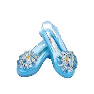 Disguise Disney Princess Cinderella Sparkle Child Shoes - Blue