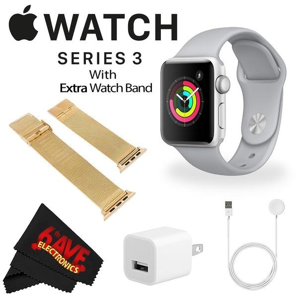 Apple Watch Series 3 38mm Smartwatch (GPS Only, Silver Aluminum Case, Fog Sport