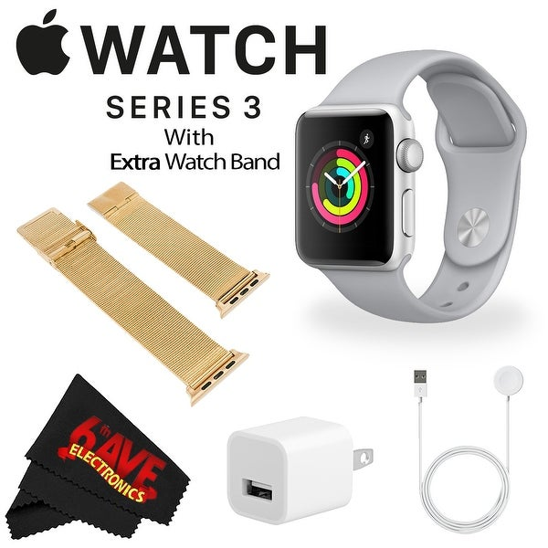 low cost 90f65 1b6ae Shop Apple Watch Series 3 42mm Smartwatch (GPS Only, Silver Aluminum ...