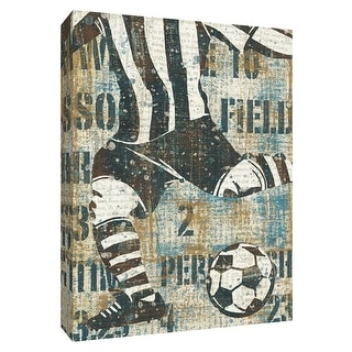 "PTM Images 9-154309  PTM Canvas Collection 10"" x 8"" - ""Men's Scoreboard Soccer"" Giclee Soccer Art Print on Canvas"