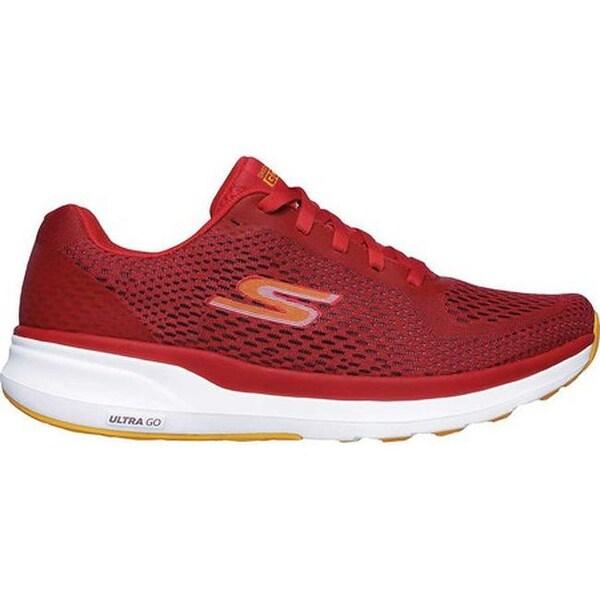 Shop Skechers Men's GOrun Pure Running Shoe RedOrange