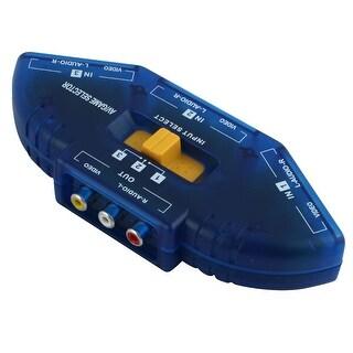 Unique Bargains RCA Video Audio AV Switch 1 to 3 Ports Selector 3-Way TV DVD Splitter Box Blue