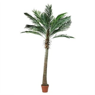 6' Decorative Potted Artificial Brown and Green Phoenix Palm Tree