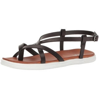 MIA Womens Elana Split Toe Casual Strappy Sandals