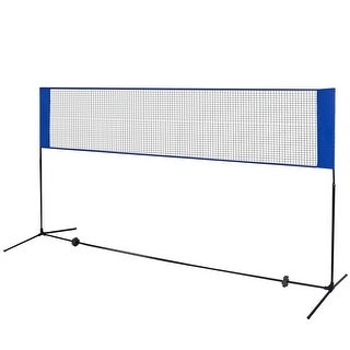 Costway Portable Badminton Beach Volleyball Tennis Training Net