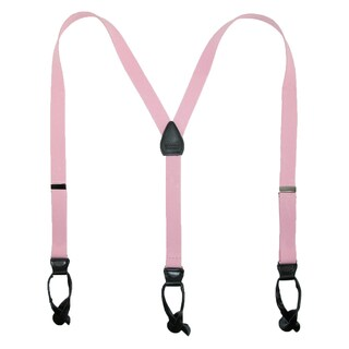 CTM® Elastic 1 Inch Wide Fashion Color Button-End Suspenders (2 options available)