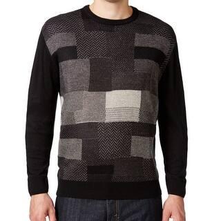 Weatherproof NEW Black Textureblock Mens Size 3XLT Crewneck Sweater|https://ak1.ostkcdn.com/images/products/is/images/direct/1304a09f298287de227ce9854ae7b4baa167c38d/Weatherproof-NEW-Black-Textureblock-Mens-Size-3XLT-Crewneck-Sweater.jpg?impolicy=medium